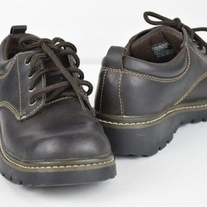 Skechers Choc Brown lace up Oxfords Size 8.5